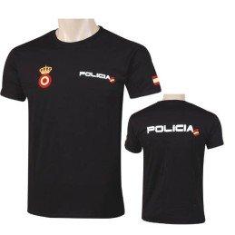 Camiseta Policía negra