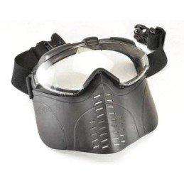 Máscara negra con ventilador