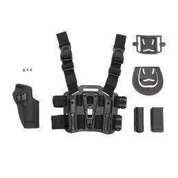 Pistolera rígida y panel de pierna Beretta M92 negra