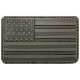 Parche bandera EEUU verde velcro