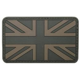 Parche bandera Reino Unido verde velcro