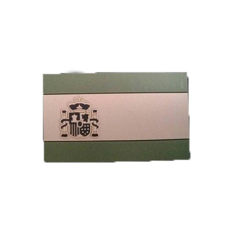 Parche bandera española verde velcro