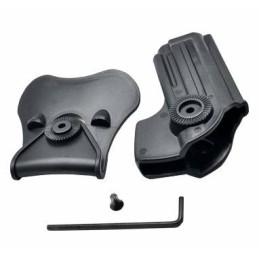 Pistolera rígida alta resistencia Taurus PT92, Beretta M92 y M92FS negra