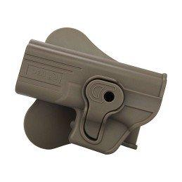 Pistolera rígida alta resistencia zurdos Glock 19, 23 y 32 tan