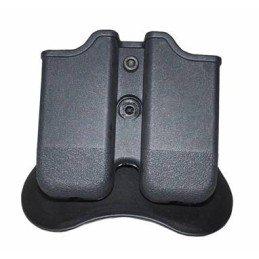 Portacargador rígido doble negro pistola Glock