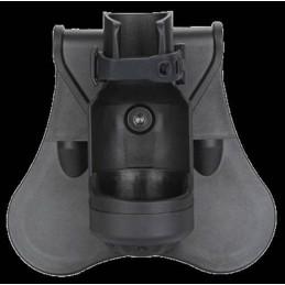 Porta linterna rígida alta resistencia negro