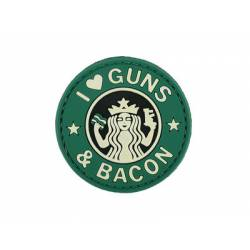 Parche I love Guns & Bacon