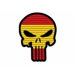 Parche calavera punisher bandera España