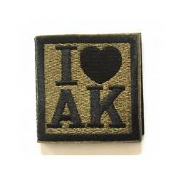 Parche bordado I love AK
