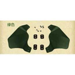 Orejeras para casco verde OD