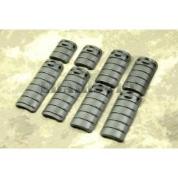 Cubrerailes KAC 8 piezas negro