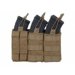 Pouch triple AK y doble pistola tan