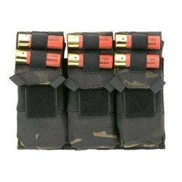 Triple pouch M4 y portacartuchos multicam black