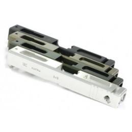 Corredera aluminio 7077 CNC G18C silver