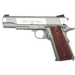 Pistola airsoft CO2 Colt 1911 plata full metal