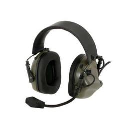 Protector auditivo comunicación verde