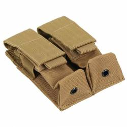 Pouch doble pistola tan