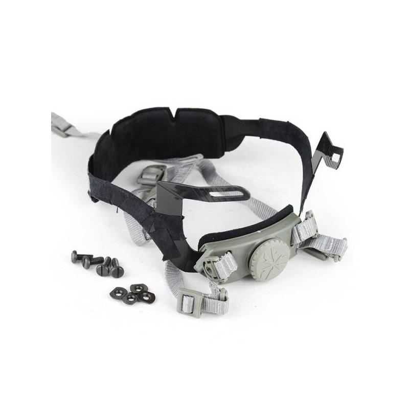 Sistema suspensión casco fast gris