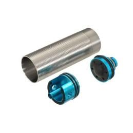 Set silencioso cilindro, cabeza de cilindro y cabeza de pistón