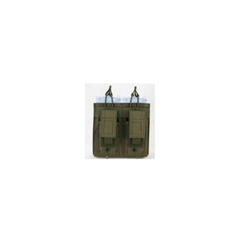 Portacargador doble opentop M4 y pistola verde