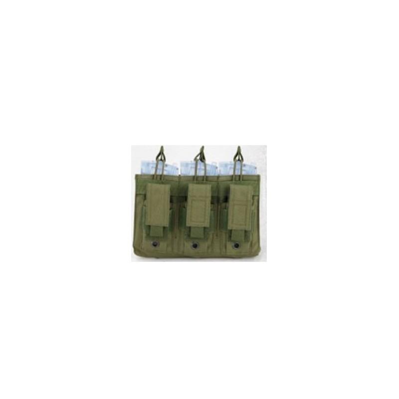 Portacargador triple opentop M4 y pistola verde
