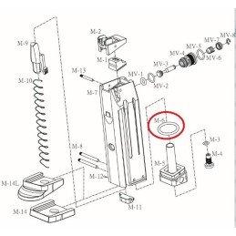 Repuesto cargador goma sellado HGA-166 M6 R10:17178