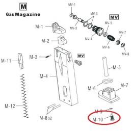 Repuesto válvula llenado cargador pistola gas HG-170 M10 M91:001