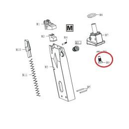 Repuesto válvula entrada cargador pistola HG-160 M9 M91:001
