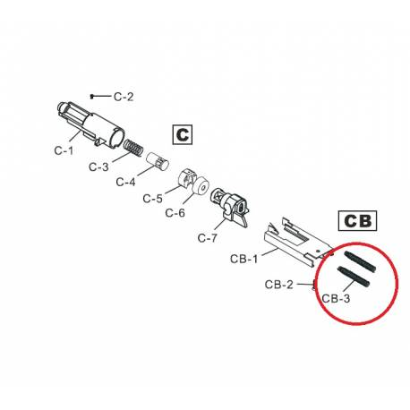 Pieza pistola HG-170 CB3 M42 G190-7