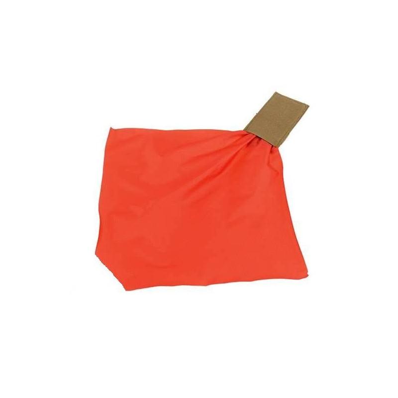 Pouch elástico tan con pañuelo rojo