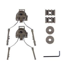 Acople casco fast Zcomt y Headset simple tan