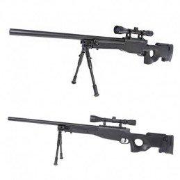 MB01 negro WELL + bípode + mira sniper airsoft L96
