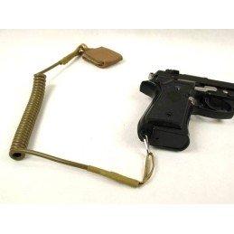 Landyard o antipérdida de pistola tan