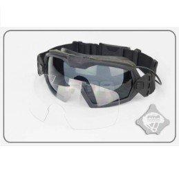 Gafas con ventilador y dos lentes negras