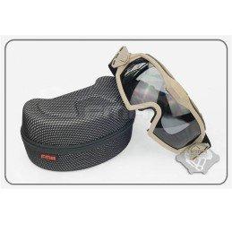 Gafas con ventilador y dos lentes tan