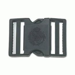 Hebilla PVC Escudo Aduanas negra