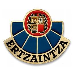Placa cartera metálica Ertzaintza