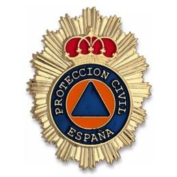 Placa cartera metálica Protección Civil España