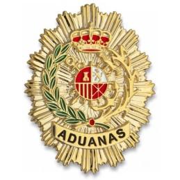 Placa cartera metálica Aduanas