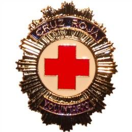 Placa cartera metálica Cruz Roja