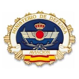 Placa cartera metálica Aviación