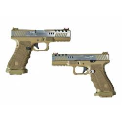 Pistola GBB Dragonfly dual power tan