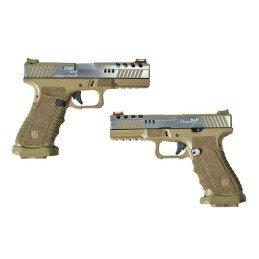 Pistola GBB Dragonfly dual power tan