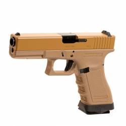 Pistola GBB G17 V2 metal tan WE