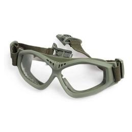 Gafas para casco transparentes verdes