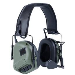 Cascos headset amplificadores verdes