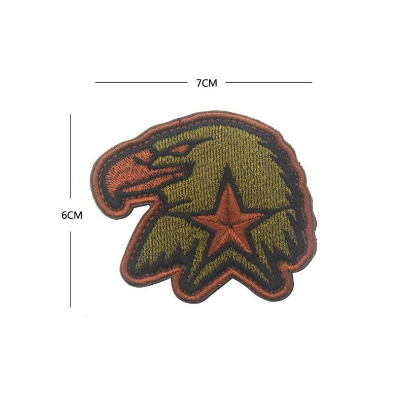 Parche bordado águila estrella