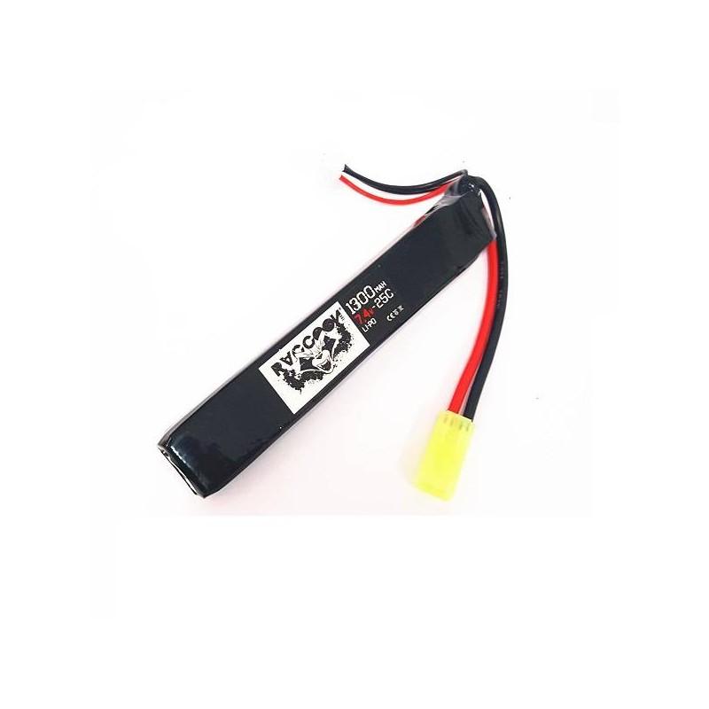 Batería li-po 7,4 V 1300 mAh 25C tubo
