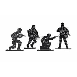 Dianas metálicas soldado pack 4