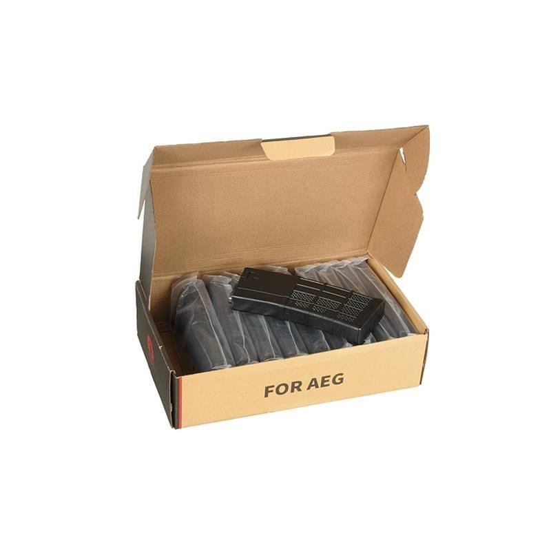 Caja de 10 cargadores mid-cap 120 bbs M4